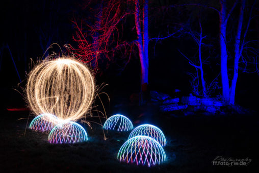Light Painting - Domes